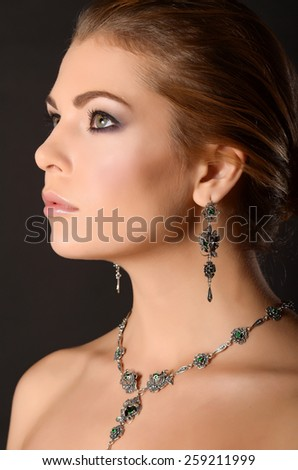 Fashion model with jewelry
