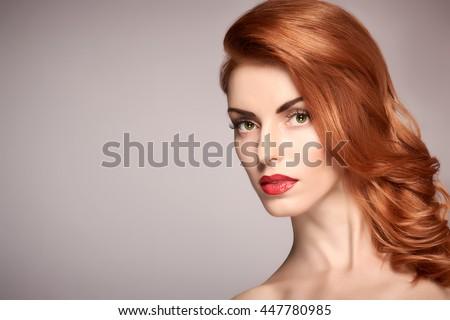 Beautiful Woman Makeup Long Bob Hairstyle Stock Photo 535423492 ...