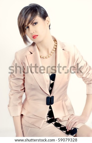 Fashion portrait of a beautiful business woman