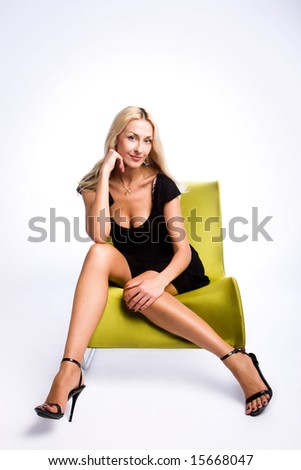 Fashion portrait of a beautiful female - stock photo