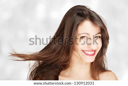 Fashion portrait of a beautiful woman - stock photo