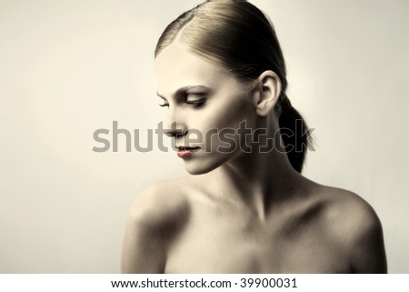 fashion portrait of a woman - stock photo