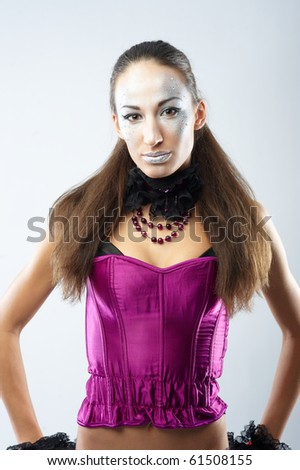 Fashion portrait of beautiful young woman