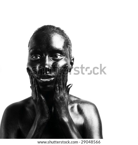 Fashion portrait of made up black woman