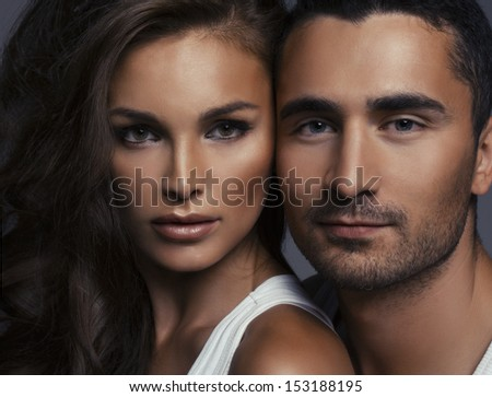 Fashion portrait of young lovers