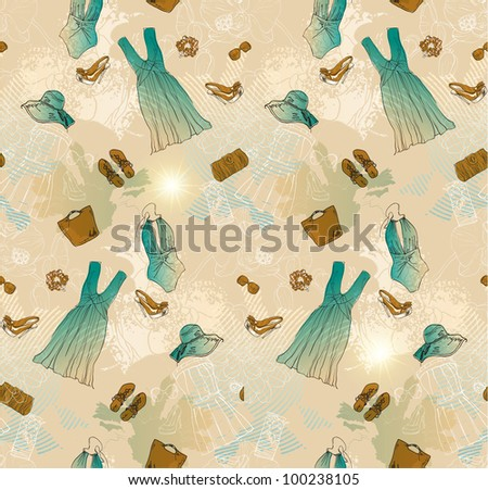 fashion seamless background - stock photo