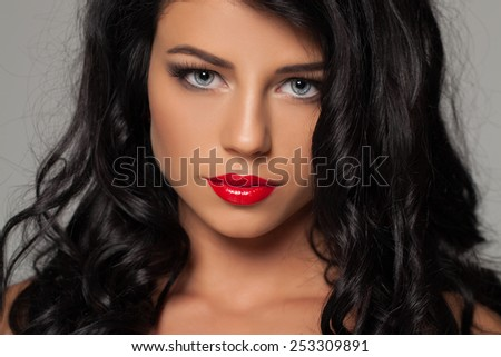 Fashion sexy woman beauty portrait - stock photo