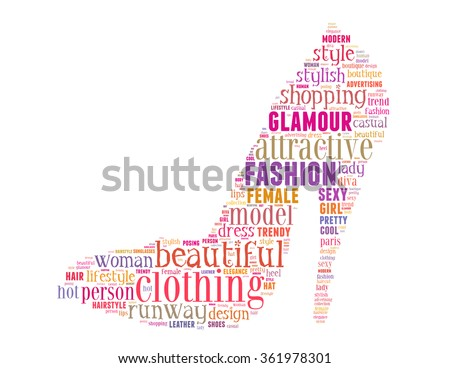 Fashion shoe, word cloud concept on white background.