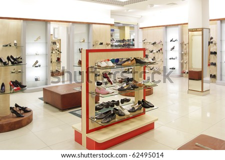 fashion shoes shop - stock photo