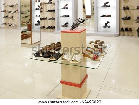 fashion shoes shop - stock photo