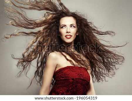 Fashion Shoot, woman with long hair