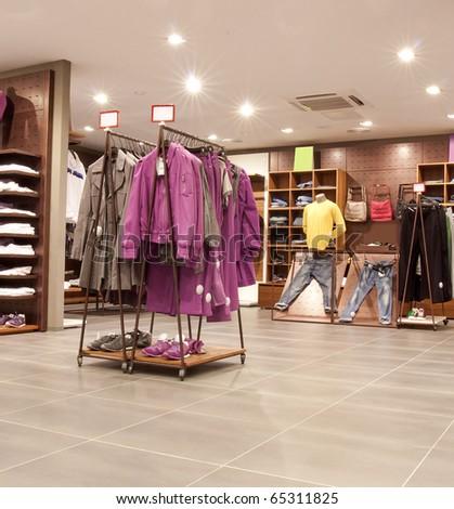 fashion shop - stock photo