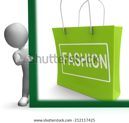 Fashion Shopping Sign Showing Fashionable Trendy And Stylish - stock photo