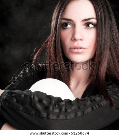 Fashion shot of a trendy european woman dressed in contemporary cloth.