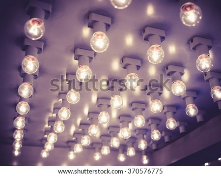 Fashion show Event Catwalk Lights decoration background - stock photo