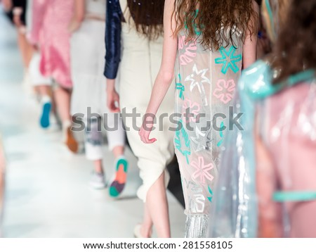 Fashion Show Finale, a catwalk event - stock photo