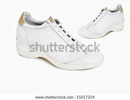 Fashion sneakers trainers for ladies - stock photo
