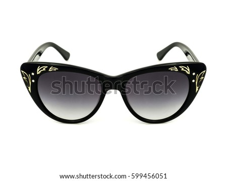 Fashion sunglasses isolated on white background