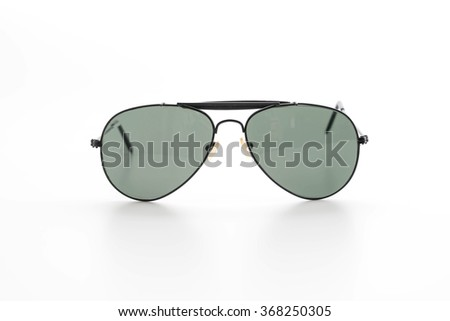 fashion sunglasses on white background - stock photo