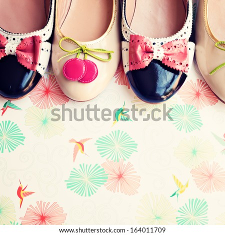 Fashion Vintage Shoes - stock photo