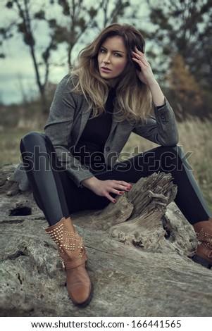 Fashion woman - stock photo
