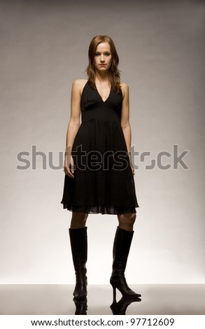 Fashion Woman on the Catwalk - stock photo