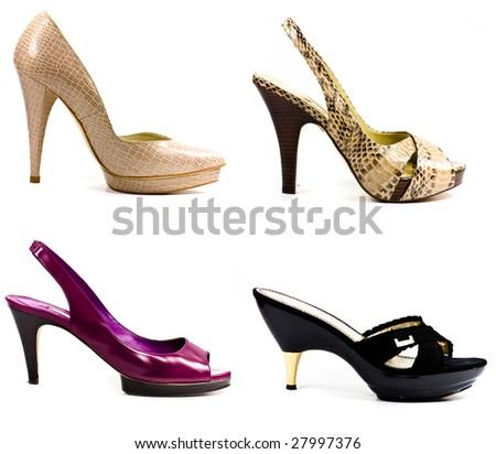 fashion woman shoes - stock photo