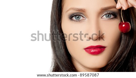 fashion woman with beautiful makeup
