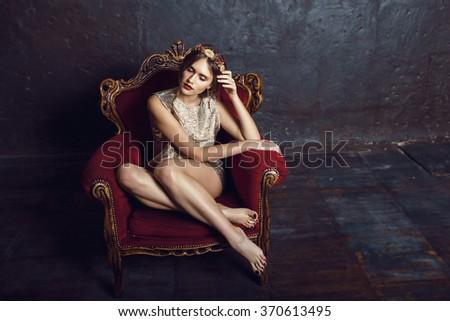 fashion, women, beauty - stock photo