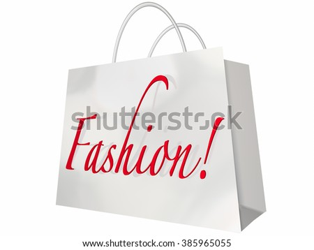 Fashion Word Shopping Bag Style Store Sale - stock photo