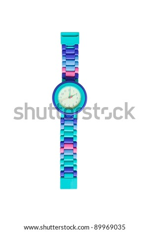 Fashion wristwatch isolated on a white background - stock photo