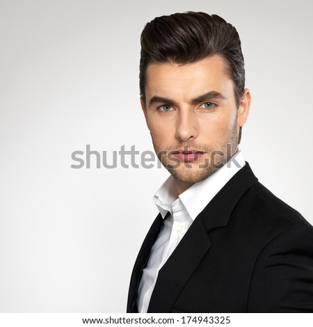 Magnificent Man Hairstyle Stock Photos Royalty Free Images Amp Vectors Short Hairstyles Gunalazisus
