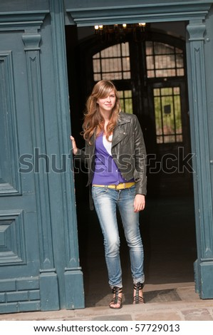 Fashion young girl - stock photo