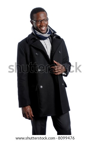Fashionable African American Male Smiling