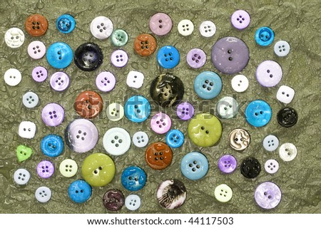 Fashionable and dright button background. Creative abstract