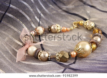 fashionable colorful bracelet - stock photo