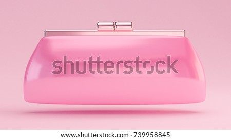 Fashionable elegant clutch, handbag. 3d illustration, 3d rendering.
