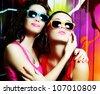 fashionable girls - stock photo
