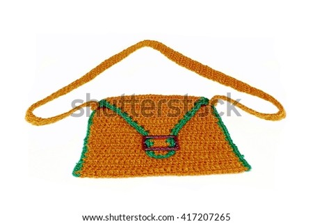 Fashionable knitted handbag