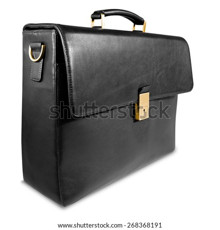 Fashionable leather briefcase