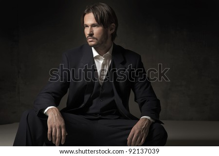 Fashionable man - stock photo