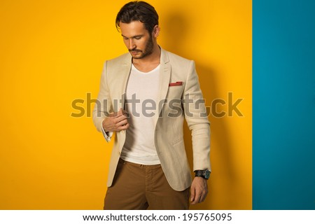 Fashionable man in jacket - stock photo