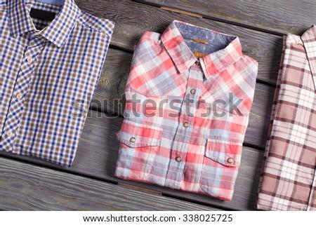 Fashionable men's checkered shirt. - stock photo