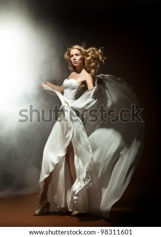 Fashionable photo of a young lady - stock photo