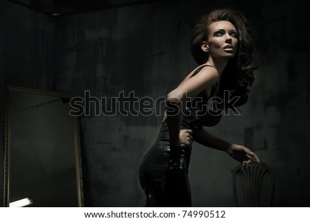 Fashionable shot of beautiful woman - stock photo
