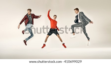 Fashionable sporty men - stock photo