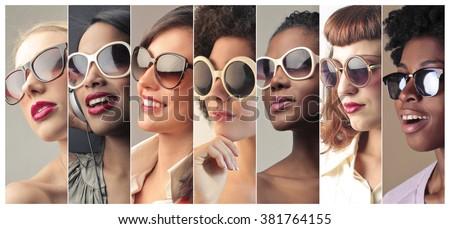 Fashionable sunglasses - stock photo