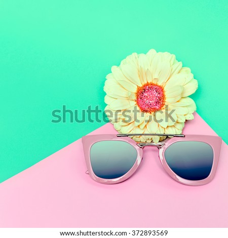 Fashionable Sunglasses. Pastel Colors. Trend of the season.