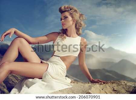 Fashionable woman - stock photo