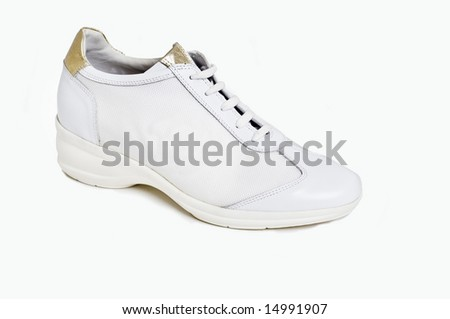 Fashionable womens shoes/trainers - stock photo